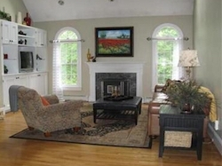 living room redesign - fireplace